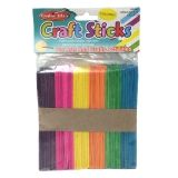 CRAFT STICKS REGULAR SIZE COLORED  150/PK