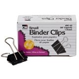 BINDER CLIPS 12CT SMALL 3/8IN  CAPACITY