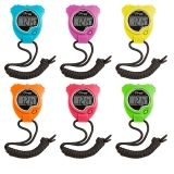 STOP WATCH 6PK NEON COLORS