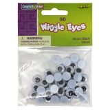 Creativity Street Wiggle Eyes, Black, 10 mm, 50 Pieces
