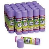 Creativity Street Glue Sticks, Purple, 1.41 oz., 30 Count