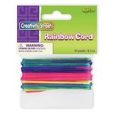 Creativity Street Cord, Rainbow Elastic, 10 yds., 1 Count