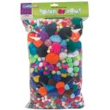 Pound of Poms, Assorted Colors & Sizes, 1 lb.
