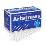 Artstraws Paper Tubes, Thick, White