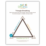 "Triangle Deep Breathing Poster, 11"" x 17"""