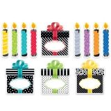 6IN BOLD BRIGHT BIRTHDAY CUT OUTS  DESIGNER