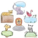 6IN SAFARI FRIENDS DESIGNER CUTOUTS