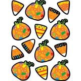 Poppin' Patterns Pumpkins & Candy Corn Stickers