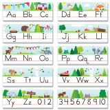Woodland Friends Traditional Manuscript Alphabet Line Bulletin Board Set, 2 Sets
