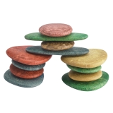 Junior Rainbow Pebbles, Eco-Friendly, Set of 36