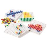 Pegs and Peg Board Set, 5 Boards, 1000 Pegs