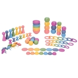 Rainbow Wooden Super Set, 84-Piece Set