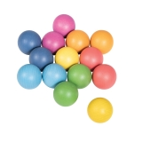 Rainbow Wooden Balls, 14-Piece Set