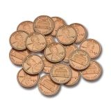 PLASTIC COINS 100 PENNIES