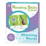 Reading Skills Puzzles, Rhyming Words