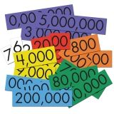 PLACE VALUE CARDS 7 VALUE WHOLE NUM  SENSATIONAL MATH