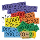 PLACE VALUE CARDS 10 VALUE DECIMAL  WHOLE NUM SENSATIONAL MATH