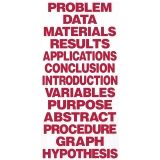 Science Fair Titles, Red, 13/pkg