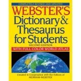 WEBSTERS DICTIONARY & THESAURUS FOR  STUDENTS SECOND EDITION
