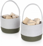 Woven Block Baskets, Set of 2