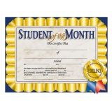 STUDENT OF THE MONTH 30/PK 8.5 X 11  CERTIFICATES
