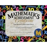 "Mathematic Achievement Certificate, 8.5"" x 11"", Pack of 30"