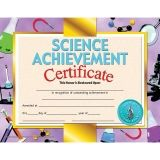 "Science Achievement Certificate, 8.5"" x 11"", Pack of 30"