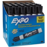 Small Black Dry Erase Markers with Eraser, Pack of 36