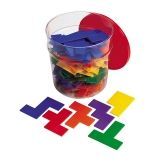 RAINBOW PREMIER PENTOMINOES 6  SETS IN CLEAR TUB