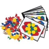 PATTERN BLOCK ACTIVITY PK 124  BLOCKS 16 CARDS
