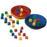 BABY BEAR SORTING SET 102 BEARS 6  COLORS 6 BOWLS