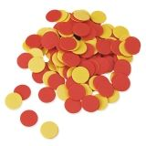 TWO COLOR COUNTERS RED AND YELLOW  SET OF 200