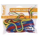 LACES FOR LACING 24PK 36IN LONG 1IN  TIPS ASSORTED COLORS