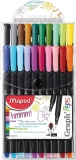 Graph'Peps Classic 0.4mm Fine Felt Tipped Pens, Pack of 20