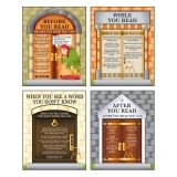 READING STRATEGIES TEACHING POSTER  SET