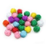 Creativity Street Glitter Pom Pons, Assorted Colors, 33 mm, 40 Pieces