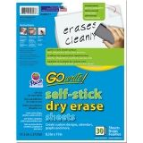 GoWrite! Dry Erase Sheets, Self-Adhesive, White