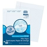 "Pacon Filler Paper, White, 3-Hole Punched, Red Margin, 8"" x 10-1/2"", 150 Sheets"