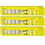 Reference Rulers, French, Pack of 96