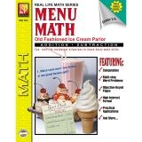 MENU MATH ICE CREAM PARLOR BOOK-1  REAM PARLOR BOOK 1-ADD & SUBTRACT