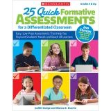 25 Quick Formative Assessments for a Differentiated Classroom Book, 2nd Edition