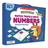 Learning Mats: Match, Trace & Write Numbers for Grades PreK-1