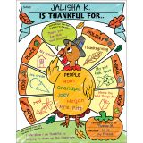 Personal Poster Set: I Am Thankful! For Grades K-2, 30 Per Pack, 2 Packs