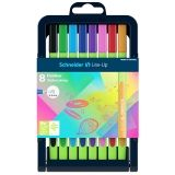 Schneider Line-Up Fineliner Pens, 8 colors