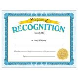Certificate of Recognition Classic Certificates, 30 ct