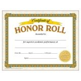 Honor Roll Classic Certificates, 30 ct