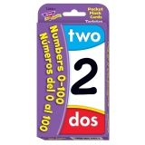 Numbers/N�meros del 0 al 100 (EN/SP) Pocket Flash Cards