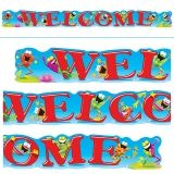 WELCOME FROGS 10FT HORIZONTAL  BANNER