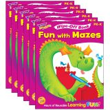 (6 EA) FUN WITH MAZES WIPE OFF BOOK