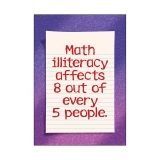MATH ILLITERACY AFFECTS 8 OUT OF  EVERY 5 PEOPLE ARGUS LARGE POSTER